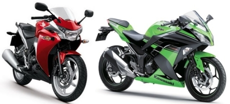 Honda CBR250R vs ninja 250R FI