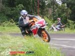 cornering CBR150R Repsol 2