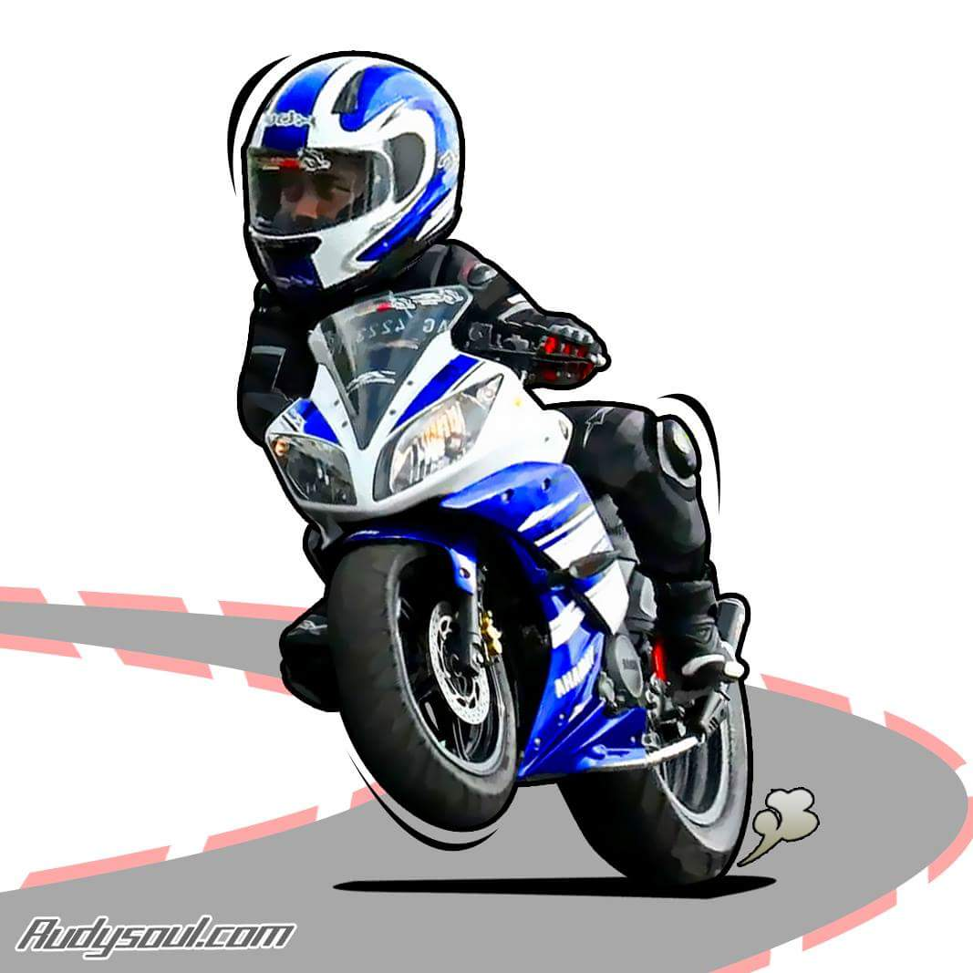 Gambar Motor Road Race Kartun Galeriotto
