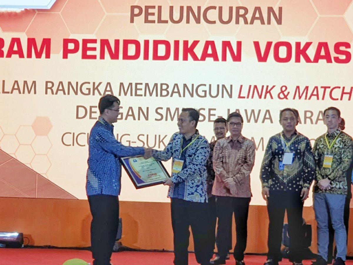 Yamaha Indonesia Konsisten Dukung Program Pendidikan Vokasi Industri di Jawa Barat.