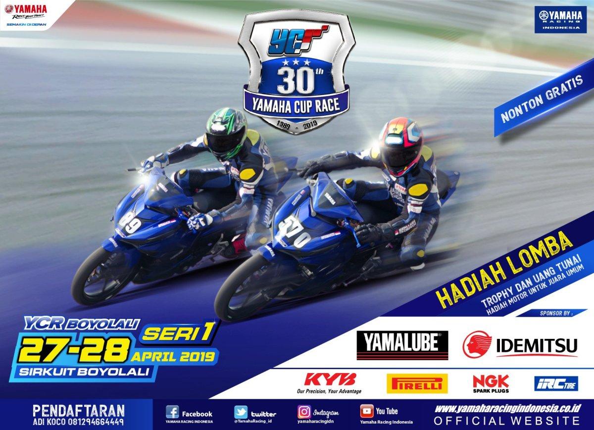 Boyolali Jadi Seri Perdana dan Perayaan 30 Tahun Yamaha Cup Race.